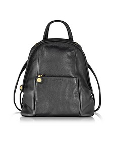Bluebell Black Leather Backpack