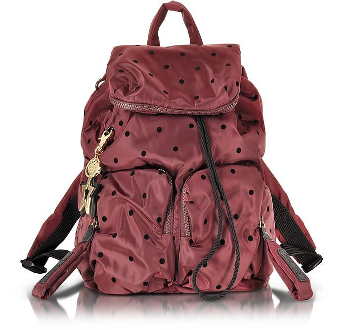 See by Chloé Joy Rider Grape and Black Dots Nylon Backpack at FORZIERI dc9baa3d2f39c