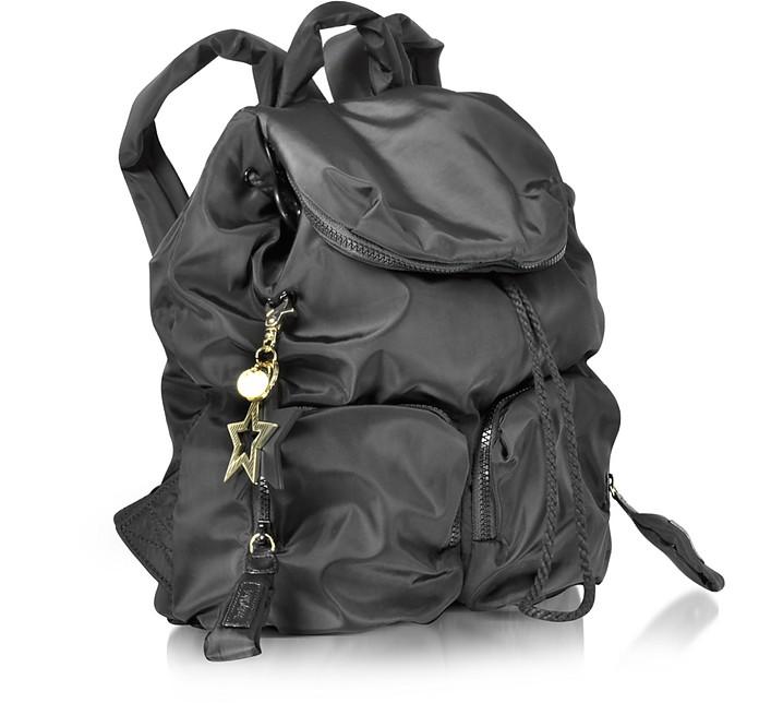 See by Chloé Black Joy Rider Black Nylon Backpack at FORZIERI 00b22d7ec63ed