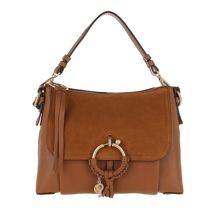 e3f5b099b704 See by Chloé Joan Shoulder Bag Suede Caramello at FORZIERI