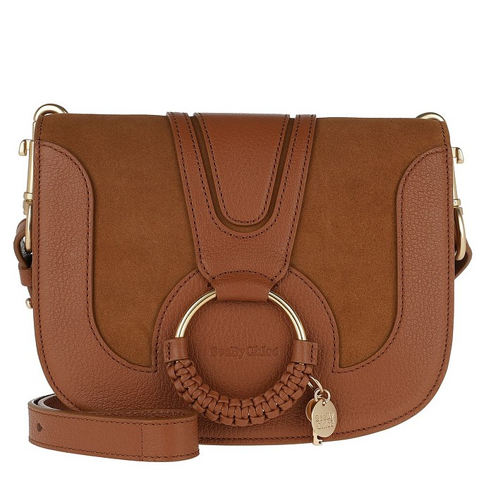 Hana Shoulder Bag Goat Leather Caramel - See by Chloé