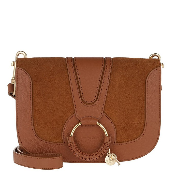 Hana Crossbody Bag Leather Caramel - See by Chloé