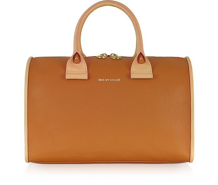 April Big Textured-Leather Satchel - See by Chloé