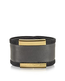 Graphite Leather Bangle