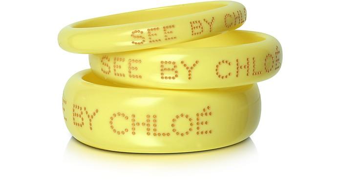 Logo Bangle Bracelets - See by Chloé