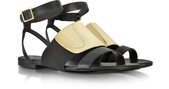 June Sandals in Black Leather - See by Chloé