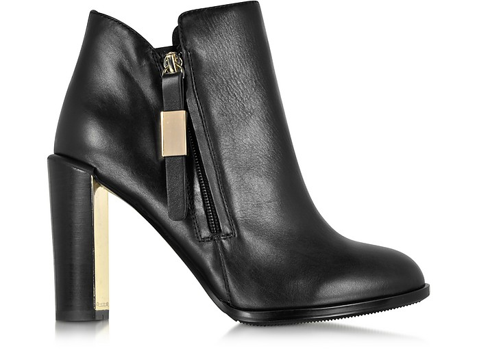 Floreto Black Leather Heel Bootie - See by Chloé