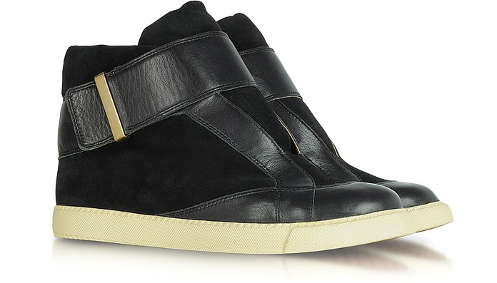 Sami Black Suede and Leather Sneakers - See by Chloé