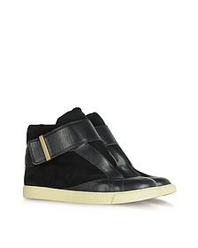 Sami Black Suede and Leather Sneakers