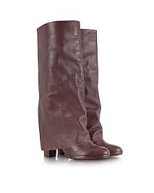Burgundy Nappa Leather Boot