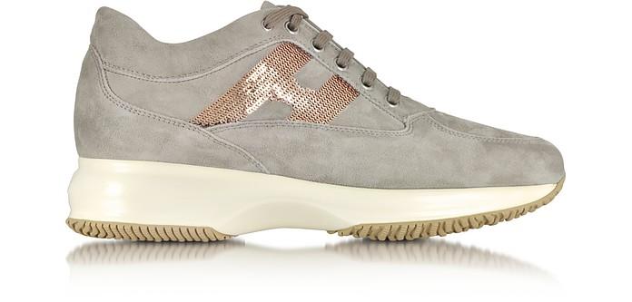 Hogan Interactive Grey Suede Sneaker 4 US | 35 IT at FORZIERI