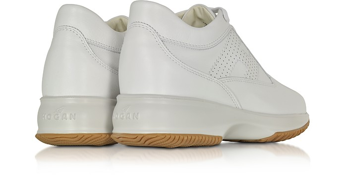 418c8ba1710 Hogan Interactive White Leather Sneaker 4 US | 35 IT at FORZIERI