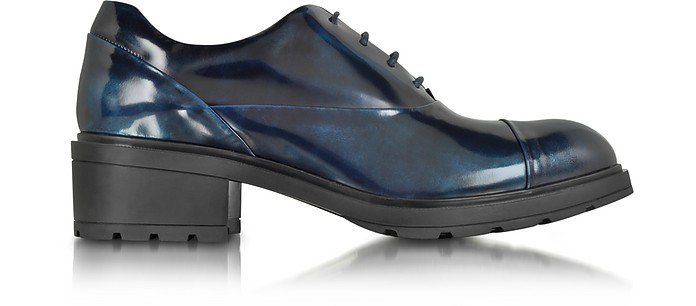 Hogan Pale Blue Patent Leather Brogue 5 US | 36 IT at FORZIERI