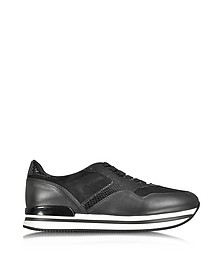 Black Leather and Suede Sneakers