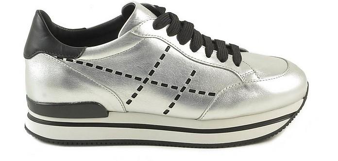 Hogan Women's Black/Silver Sneakers 37.5 IT/EU at FORZIERI