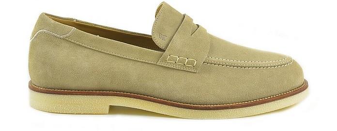 Hogan Men's Beige Loafer Shoes 41.5 at FORZIERI