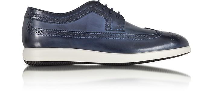 Hogan Dress X Restyling Dark Blue Leather Derby Shoe 6 (7 US | 6 ...