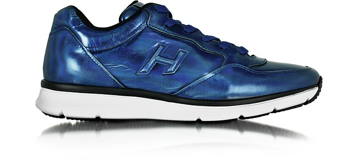 Traditional 20.15 Iridescent Blue Leather Sneaker