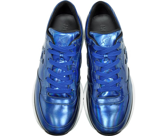 Hogan Traditional 20.15 Iridescent Blue Leather Sneaker 8 (9 US ...