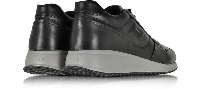 Hogan Interactive N20 Black Leather Sneaker 11 (12 US | 11 UK ...