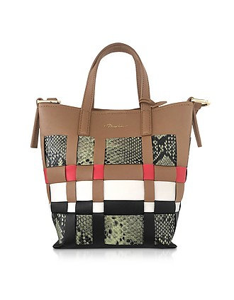 Odita Mini Modern Lattice Bucket Bag…