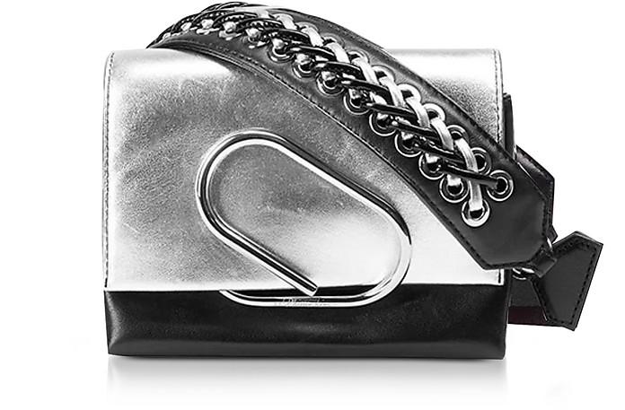 Alix Micro Sport Silver and Black Leather Crossbody Bag - 3.1 Phillip Lim