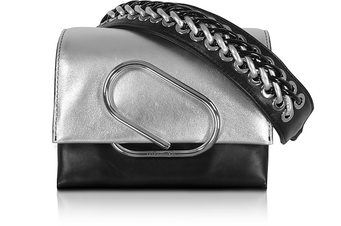 Alix Micro Sport Silver and Black Leather Crossbody Bag - 3.1 Phillip Lim