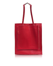 Slim Accordion Scarlet Leather Tote Bag - 3.1 Phillip Lim