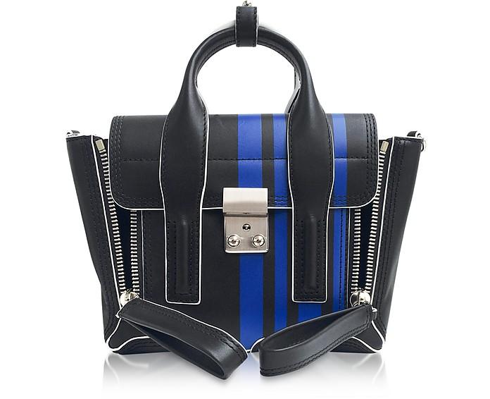 Black Leather Pashli Mini Satchel Bag w/White Stitching - 3.1 Phillip Lim
