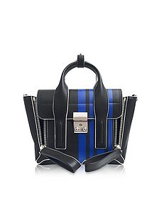 Navy Blue Leather Pashli Mini Satchel Bag w/Bluette Stripes - 3.1 Phillip Lim