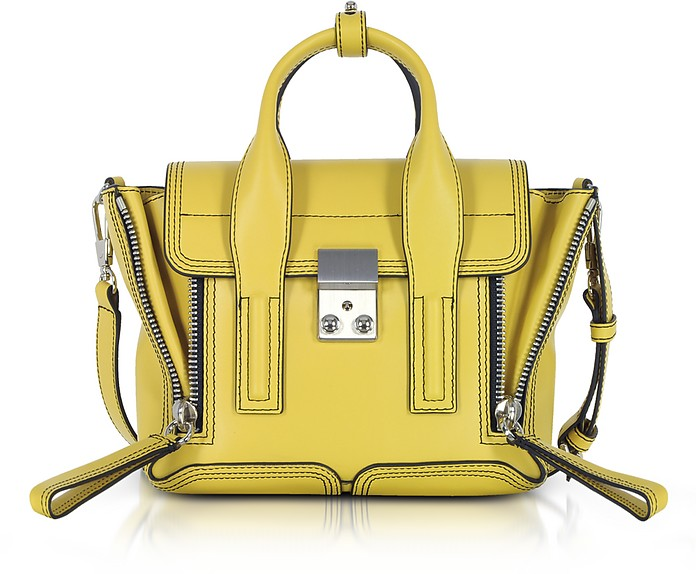 Chartreuse Leather Pashli Mini Satchel Bag - 3.1 Phillip Lim