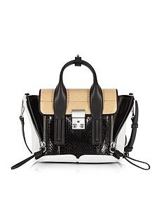 Black/Natural Elaphe and Leather Pashli Mini Satchel Bag - 3.1 Phillip Lim