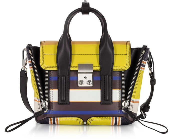 Multi Chartreuse Leather Pashli Mini Satchel Bag - 3.1 Phillip Lim