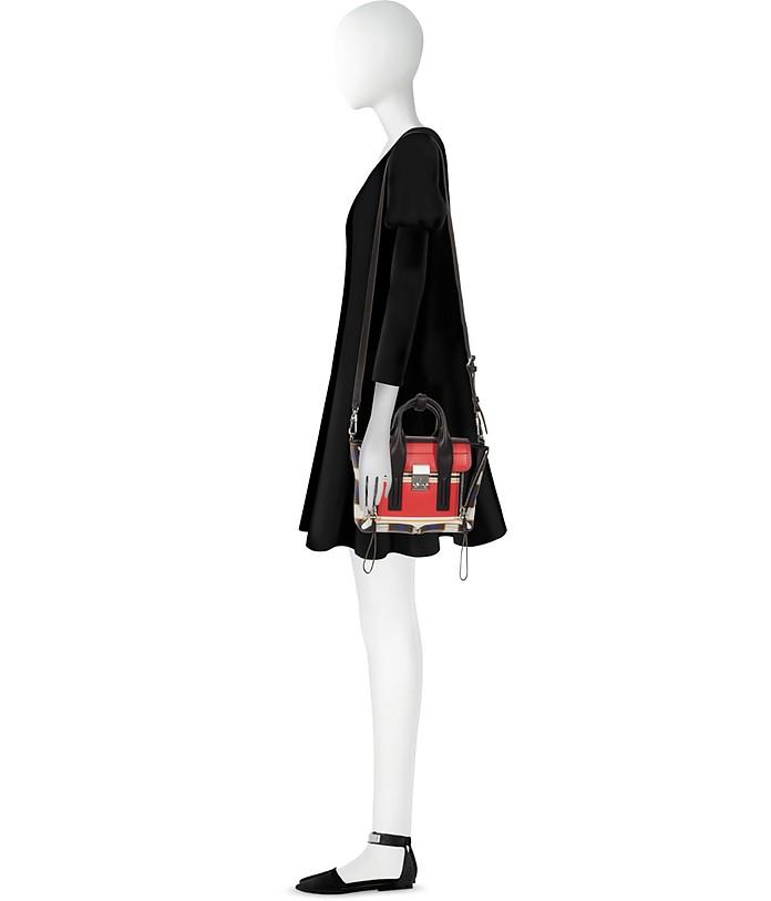 Pashli Mini Satchel Bag in Pelle Color Block Multi Scarlet 3.1 Phillip Lim 9NpBY9b