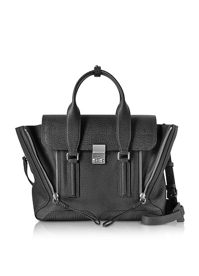 Black-Nickel Pashli Medium Satchel - 3.1 Phillip Lim