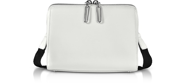 23c833e34ca3 3.1 Phillip Lim White Leather Ray Triangle Crossbody Bag at FORZIERI