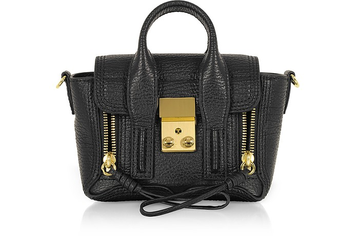 Black Leather Pashli Nano Satchel Bag - 3.1 Phillip Lim