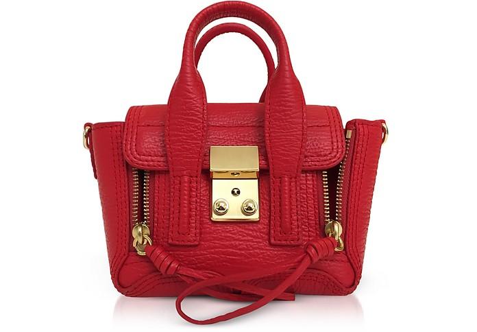 Red Leather Pashli Nano Satchel Bag