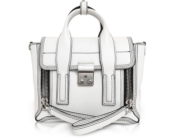 Optic White Leather Pashli Mini Satchel - 3.1 Phillip Lim