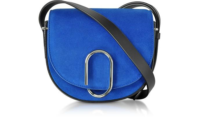 Electric Blue Suede Alix Mini Saddle Bag - 3.1 Phillip Lim