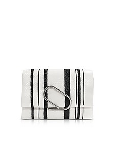 Black & White Alix Soft Flap Clutch - 3.1 Phillip Lim
