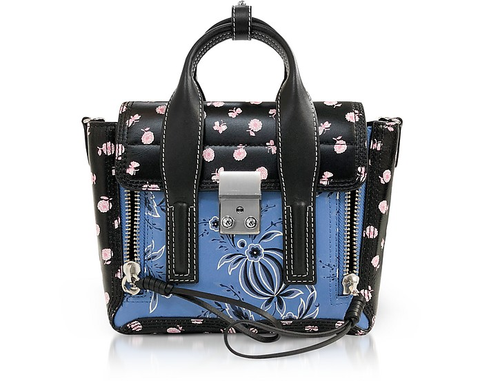 Black Multi Printed Leather Pashli Mini Satchel - 3.1 Phillip Lim