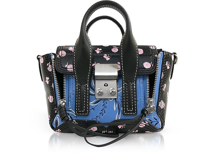 Black Multi Printed Leather Pashli Nano Satchel - 3.1 Phillip Lim