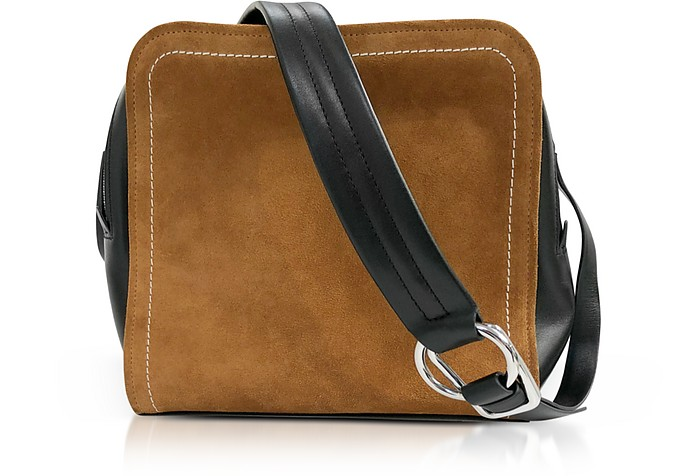 Black Leather and Cinnamon Suede Hudson Square Crossbody Bag - 3.1 Phillip Lim