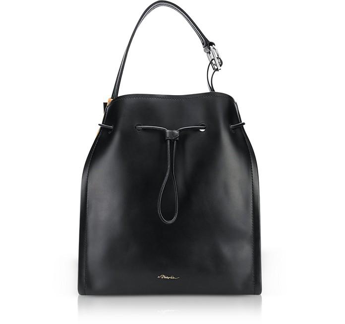 Black Leather and Cinnamon Suede Hudson Market - 3.1 Phillip Lim