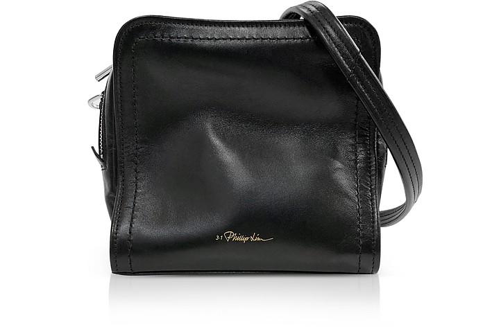 Black Leather Hudson Mini Square Crossbody Bag  - 3.1 Phillip Lim