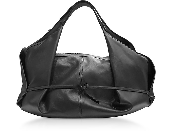 Black Leather Luna Medium Slouchy Hobo Bag - 3.1 Phillip Lim