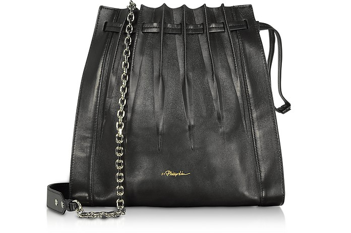 Black Florence Pleated Drawstring Tote Bag - 3.1 Phillip Lim