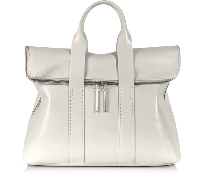 31 Hour Bag - Light Gray Leather Tote - 3.1 Phillip Lim