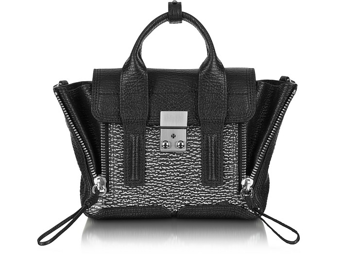Pashli Black Embossed Leather Mini Satchel - 3.1 Phillip Lim